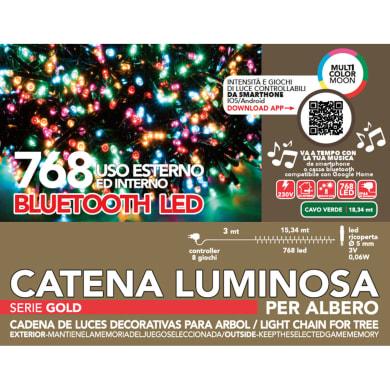 Catena luminosa 768 lampadine multicolore Led 1834 cm