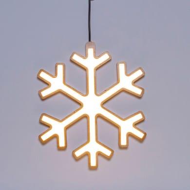 Fiocco di neve bianco caldo H 29 cm