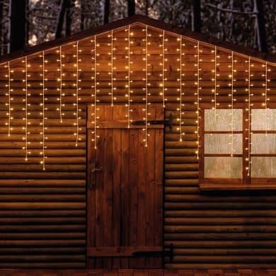 Tenda luminosa 120 lampadine led bianco freddo H 100 x L 200 cm