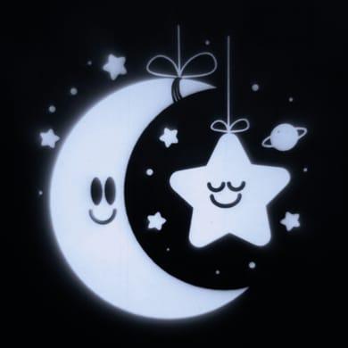 Proiettore LED bianco freddo Baby Moon & Star 2 m