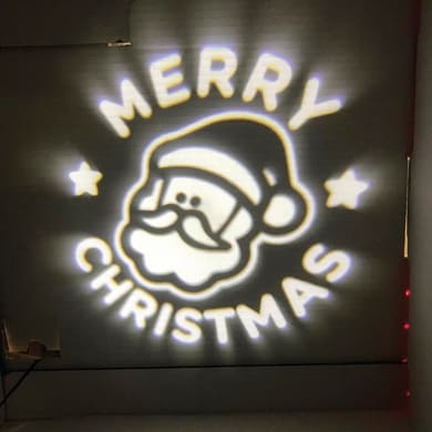 Proiettore LED bianco BABBO MERRY CHRISTMAS 2 m