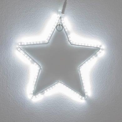 Stella luminosa 96 lampadine bianco freddo H 30 cm