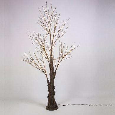 Albero luminoso 900 lampadine bianco caldo H 210 cm