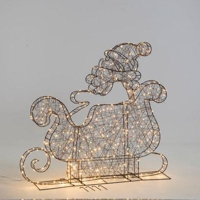 Babbo natale 600 lampadine bianco freddo H 160 cm