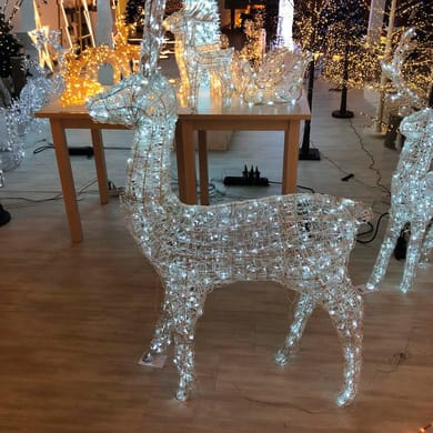 Renna 600 lampadine bianco freddo H 160 cm