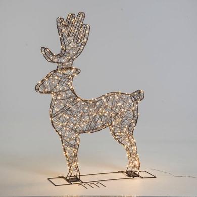 Renna 380 lampadine bianco caldo H 115 cm