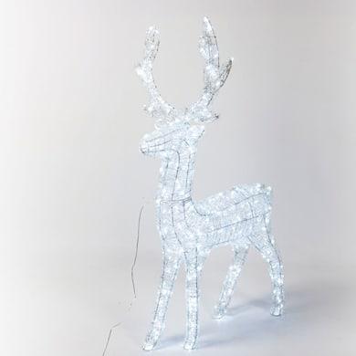 Renna 400 lampadine bianco freddo H 120 cm