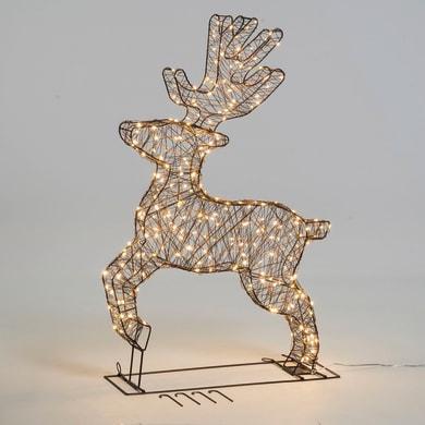 Renna 260 lampadine bianco caldo H 90 cm