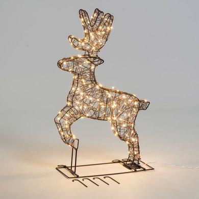 Renna 140 lampadine bianco caldo H 60 cm
