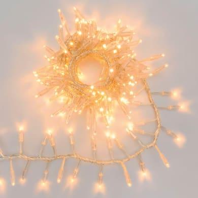 Catena luminosa 192 lampadine LED bianco caldo Maxi 400 cm