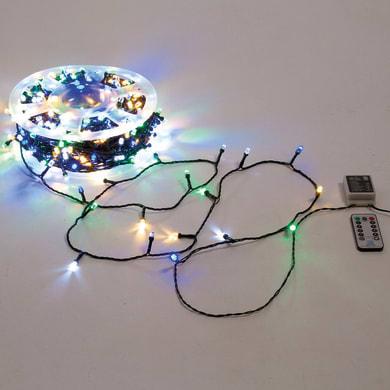 Catena luminosa 500 lampadine LED multicolore Maxi 50 cm