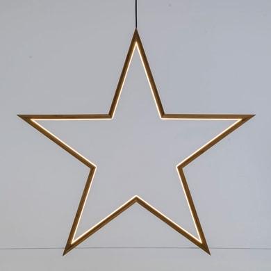 Stella luminosa bianco caldo H 71 cm