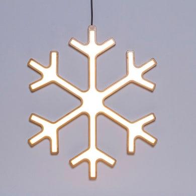 Fiocco di neve bianco caldo H 44 cm