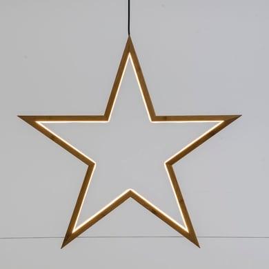 Stella luminosa bianco caldo H 3 cm