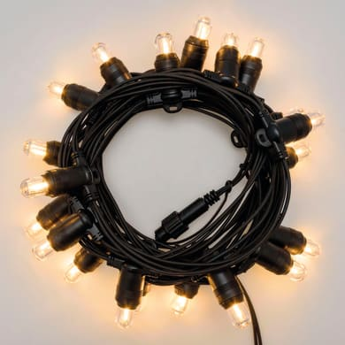 Catena luminosa 20 lampadine LED bianco caldo 600 cm