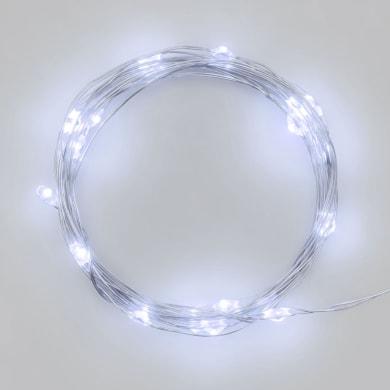 Catena luminosa 100 lampadine LED bianco freddo 10 m
