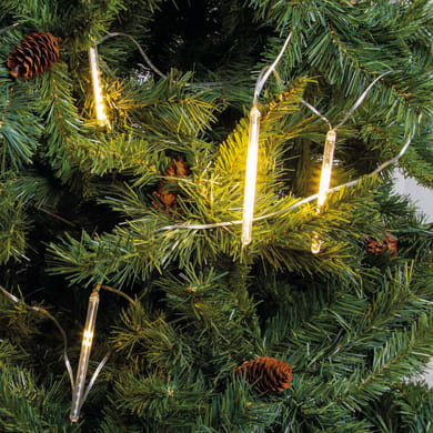 Catena luminosa 400 lampadine LED bianco caldo Minitubi 10cm 950 cm