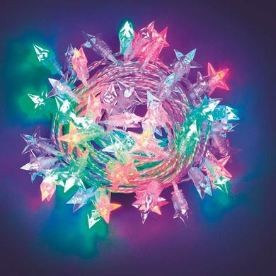Catena luminosa 60 lampadine LED multicolore 750 cm