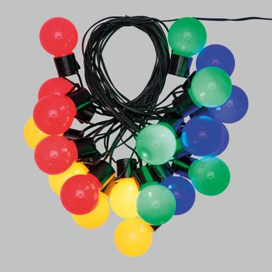 Catena luminosa 20 lampadine LED multicolore Super 100 cm