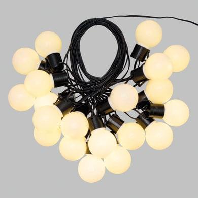 Catena luminosa 20 lampadine LED bianco caldo Super 100 cm