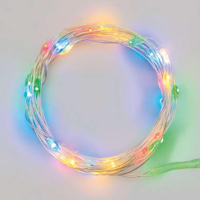 Catena luminosa 20 lampadine LED multicolore Micro 200 cm
