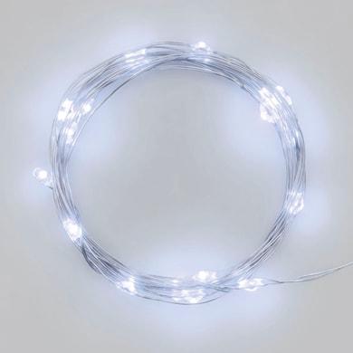 Catena luminosa 20 lampadine LED bianco freddo 200 cm