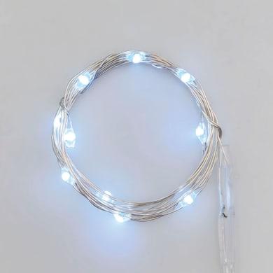 Catena luminosa 10 lampadine LED bianco freddo 1 m