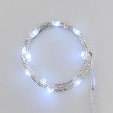 Catena luminosa 20 lampadine LED bianco freddo Micro 200 cm
