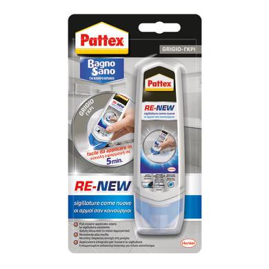 Silicone PATTEX Bagno Sano Re-New grigio grigio 100 ml