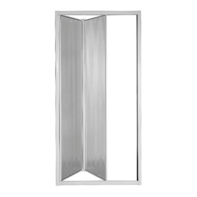 Porta doccia pieghevole Plumin 90 cm, H 185 cm in vetro temprato, spessore 3 mm piumato bianco