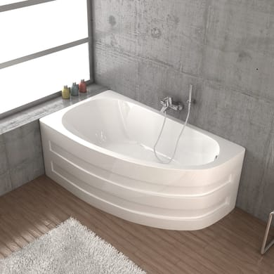 Vasca e telaio 160 x 90 cm bianco SANYCCES