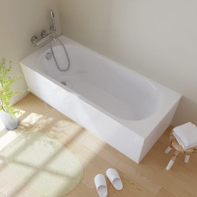 Vasca e telaio 170 x 70 cm bianco SANYCCES