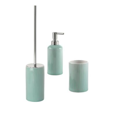 Set di accessori per bagno Sabina acquamarina in ceramica , 3 pezzi