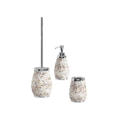 Set di accessori per bagno Marina panna in ceramica , 3 pezzi