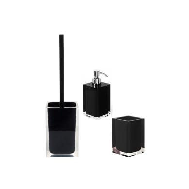 Set di accessori per bagno Rainbow nero in resina , 3 pezzi