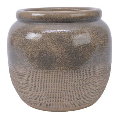 Vaso Vaso in terracotta colore marrone H 22 cm, Ø 24 cm