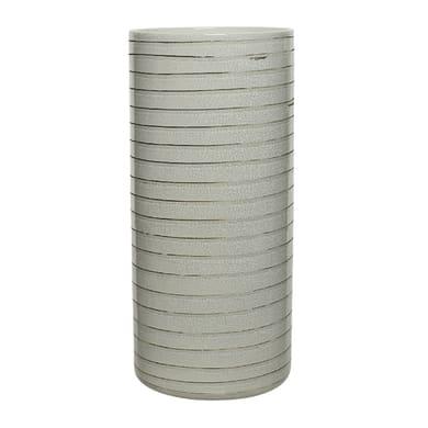 Vaso in ceramica colore grigio H 30 cm, Ø 12 cm