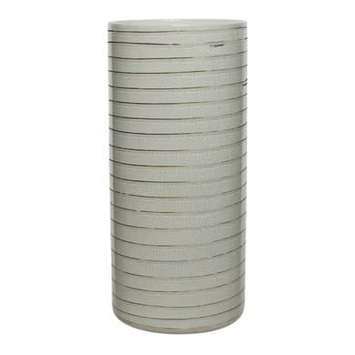 Vaso in ceramica colore grigio H 35 cm, Ø 16 cm