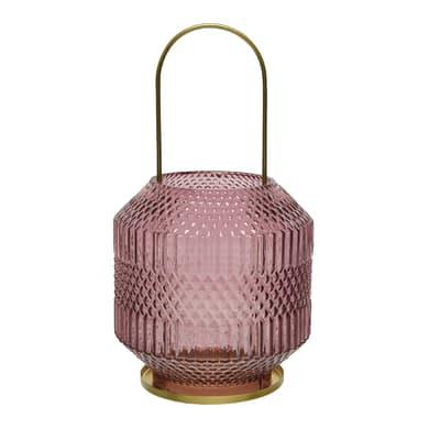 Portacandela rosa H 26 cm,