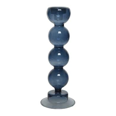 Portacandela blu H 24.5 cm,