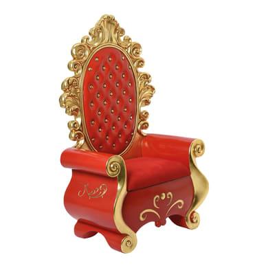 Figura natalizia rosso Babbo Natale L 56 x P 101 x H 162 cm