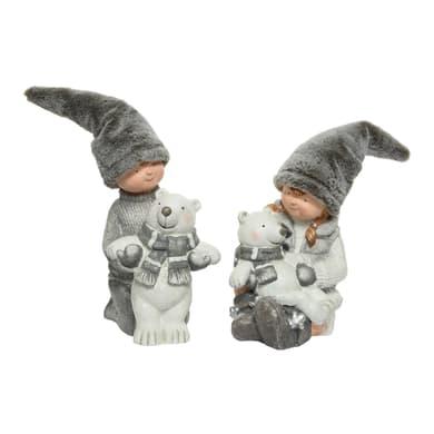 Orso grigio / argento L 31 x P 30 x H 38 cm