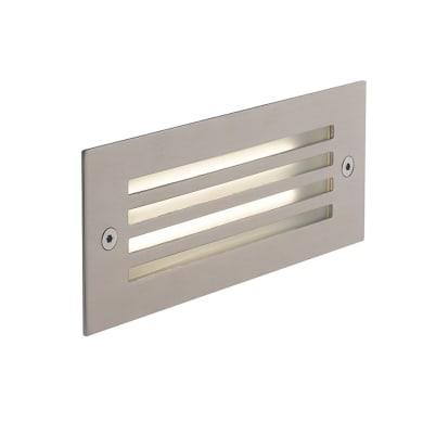 Faretto da incasso da esterno rettangolare BOLT-GRILL LED integrato 7 x 18 cm 6W 480LM 1 x IP65