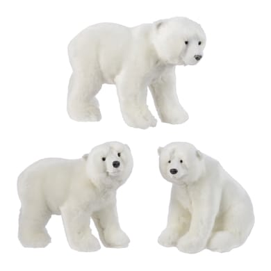 Orso bianco L 18 x P 9 x H 13 cm