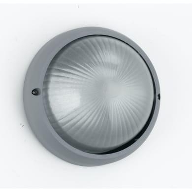 Plafoniera Barcellona in alluminio + vetro, silver, E27 MAX42W IP44