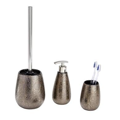 Set di accessori per bagno Palo tortora in resina , 3 pezzi