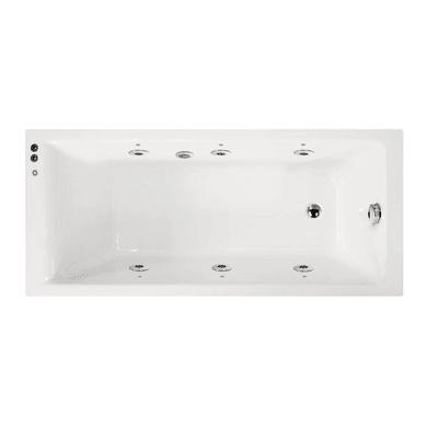 Vasca idromassaggio rettangolare 170, 75 cm, 6 bocchette,