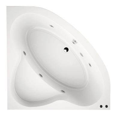 Vasca idromassaggio angolare 130 x 130 cm 6 bocchette