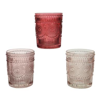 Portacandela oxblood - velvet pink - blush pink H 9.8 cm, L 8 x L 8 cm