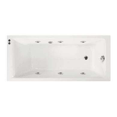 Vasca idromassaggio rettangolare bianco ,160, 70 cm, 6 bocchette,